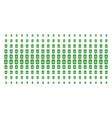 recycle bin shape halftone effect vector image