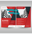 red business brochure cover template vector image vector image