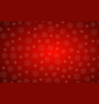 red christmas background with snowflakes simple vector image vector image