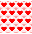 Red heart seamless wallpaper vector image vector image