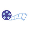 reel strip production movie film vector image vector image