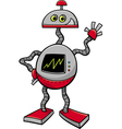 robot or droid cartoon vector image vector image
