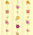 rose and leaves with in vertical liners vector image vector image