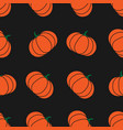 seamless halloween pattern with pumkin endless vector image vector image