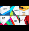 set material design of abstract elements vector image vector image