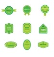 Set of labels for organic and natural food vector image vector image