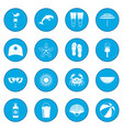 summer icon blue vector image vector image
