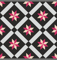 tile black and pink decorative floor tiles pattern vector image