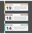 Timeline Design with Calendar Pages vector image