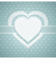 valentine heart label vector image vector image
