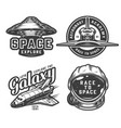 vintage space logos collection vector image vector image