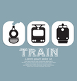 Vintage Train Collection vector image