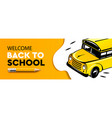 welcome back to school horizontal banner school vector image vector image