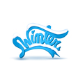 Winter lettering covered with a layer of snow vector image vector image
