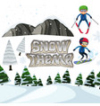 winter snow landscape theme vector image