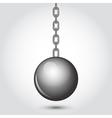 wrecking shiny ball vector image vector image