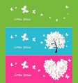 banners collection with butterflies vector image