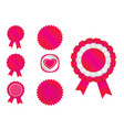 ribbon red vector image