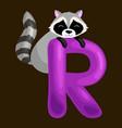 animals alphabet for kids fish letter r cartoon vector image