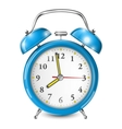 Blue Alarm Clock Isolated On White vector image