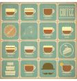 Set of Retro Coffee Labels vector image