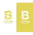 unique letter b logo design template vector image
