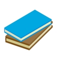 2 books isometric 3d icon vector image vector image