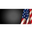 american flag for memorial day vector image vector image
