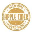 apple cider sign or stamp sign or stamp vector image vector image