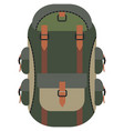 backpack bag icon on white vector image vector image