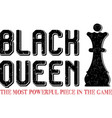 black queen chess figure on white vector image
