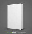 Blank book vector image vector image