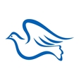 Blue of a dove flying vector image vector image