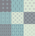 Blue Pattern Set vector image vector image