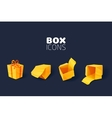 Box Icon Set vector image vector image