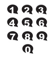 bubble conversation numbers icons set vector image vector image