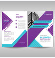 business brochure cover template with purple and vector image vector image