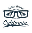 california glasses t-shirt vector image vector image