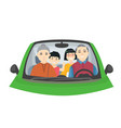 chinese family on a trip - cartoon people vector image