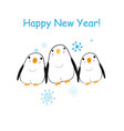 christmas bright card with funny penguins vector image vector image