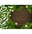 Christmas fir tree background EPS 10 vector image vector image