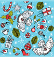 christmas pattern with angel vector image vector image