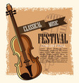 classical music festival flyer vector image