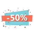Colorful sale badge Geometric design vector image vector image