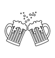 contour beer glasses icon image design vector image vector image