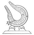 converter furnace vintage vector image vector image