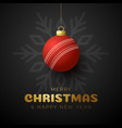 cricket merry christmas and happy new year luxury vector image vector image