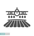 crop duster airplane spraying a farm field icon vector image vector image