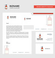 cylinder business letterhead envelope and vector image vector image