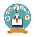 digital marketing technology rocket vector image
